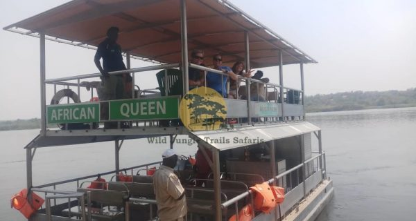 Boat cruise Launch trip on the Kazinga channel in Queen Elizabeth National Park